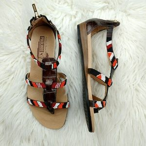 Pikolinos Maasai-Beaded ulit-Strap Sandals for sale